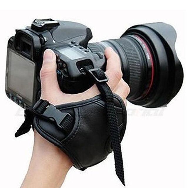 New Black Camera Hand Wrist Grip Strap for DSLR Camera