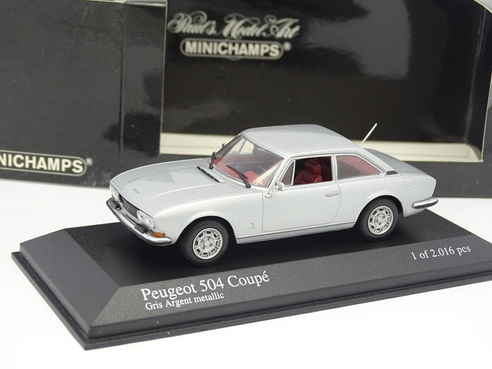 Minichamps 1 43 - Peugeot 504 Coupé silver