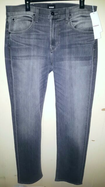 f114eb57a2c Hudson Jeans Byron Straight Leg Mens Sz 36×35 Black Washed NWT  198.00  NM255ZZCK