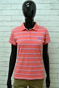 Polo-LONSDALE-Donna-Taglia-S-Maglia-Maglietta-Camicia-Shirt-Woman-Cotone-a-Righe