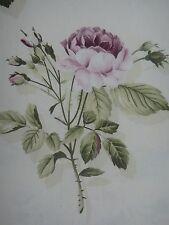 "SANDERSON CURTAIN FABRIC DESIGN ""English Rose"" 3.9 METRES CREAM AND LILAC"
