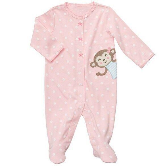Baby Girl Newborn 100% Cotton Long Sleeve Jumpsuit Romper Climbing Clothes 0-12M