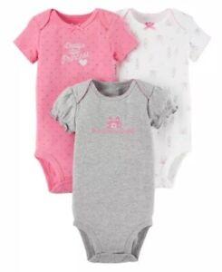678a9b2b6 Child of Mine by Carters Baby Girls Bodysuit 3-Pk Newborn . Daddy's ...