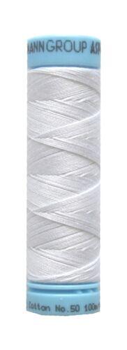 Nähgarn Zwirn TRIANA 100 /% Baumwolle 12x3 Amann 100 m weiß 2000