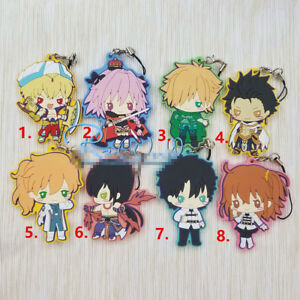 Anime Game Fate//Grand Order FGO rubber Keychain Key Ring Race straps Cosplay