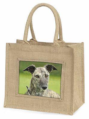 Lurcher Hund Große Natürliche Jute-einkaufstasche Weihnachten , AD-LU7BLN