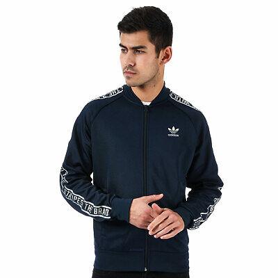 Mens adidas Originals Essentials Sst Track Jacket In Navy Full Zip Fastening   eBay