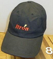 NICE ITRON ENERGY NATURAL GAS HAT BLACK,  ADJUSTABLE, VERY GOOD COND