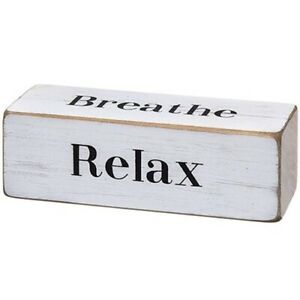 Rustic-Inspirational-Wooden-Block-4-sided-Sign-Relax-Breathe-Be-Still-Dream