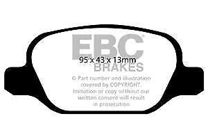 DP1338 Pastillas de freno traseras EBC Ultimax para ABARTH 500