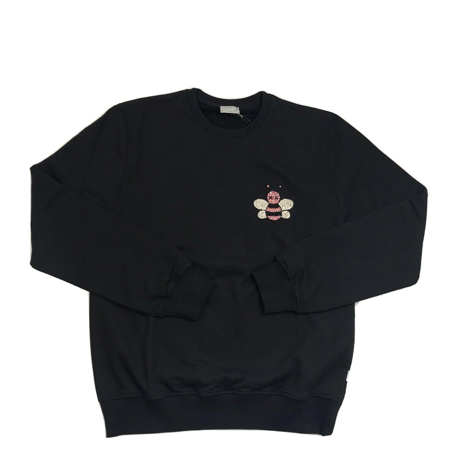 DIOR X KAWS CRYSTAL BEE BLACK SWEATSHIRT SIZE: XL
