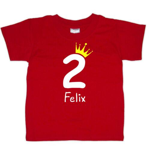 Größe * NEU * Geburtstagsshirt Wunschname 2 // Krone Wahl: Farbe
