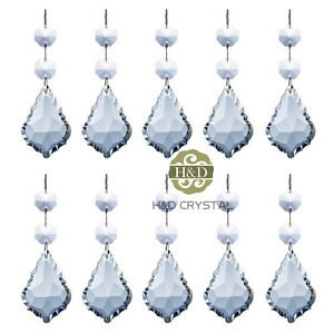 10-Clear-Crystal-Maple-Leaf-Shaped-Prisms-with-Octagon-Beads-Chandelier-Pendants