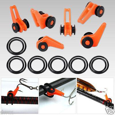 6X Orange Fishing Rod Easy Secure Hook Keepers Holder Lures Jig Safe Adjustable