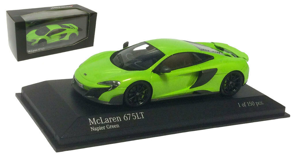 Minichamps 537154322 McLaren 675LT 2015 - Napier Green 1 43 Scale