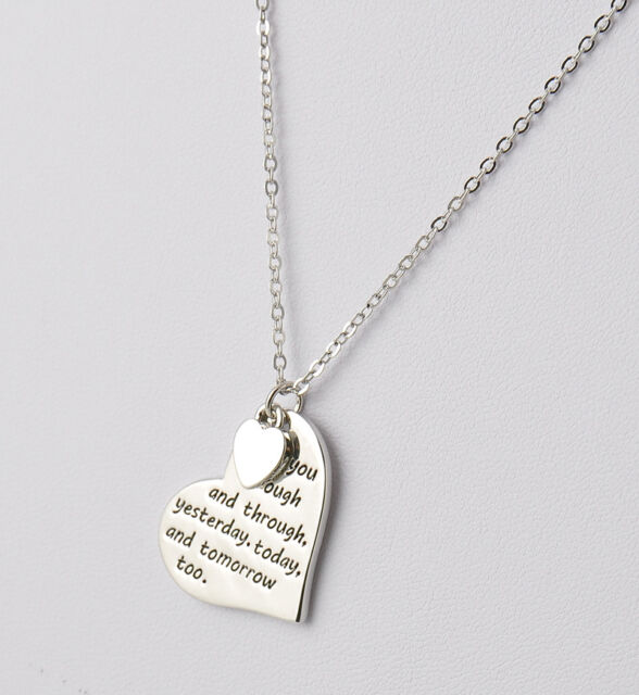 Luxurious english proverbs letters love heart simple pendant luxurious english proverbs letters love heart simple pendant necklace jewelry mozeypictures Image collections