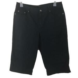 Rafaella capris pants size 14 black cotton 4 pockets womens