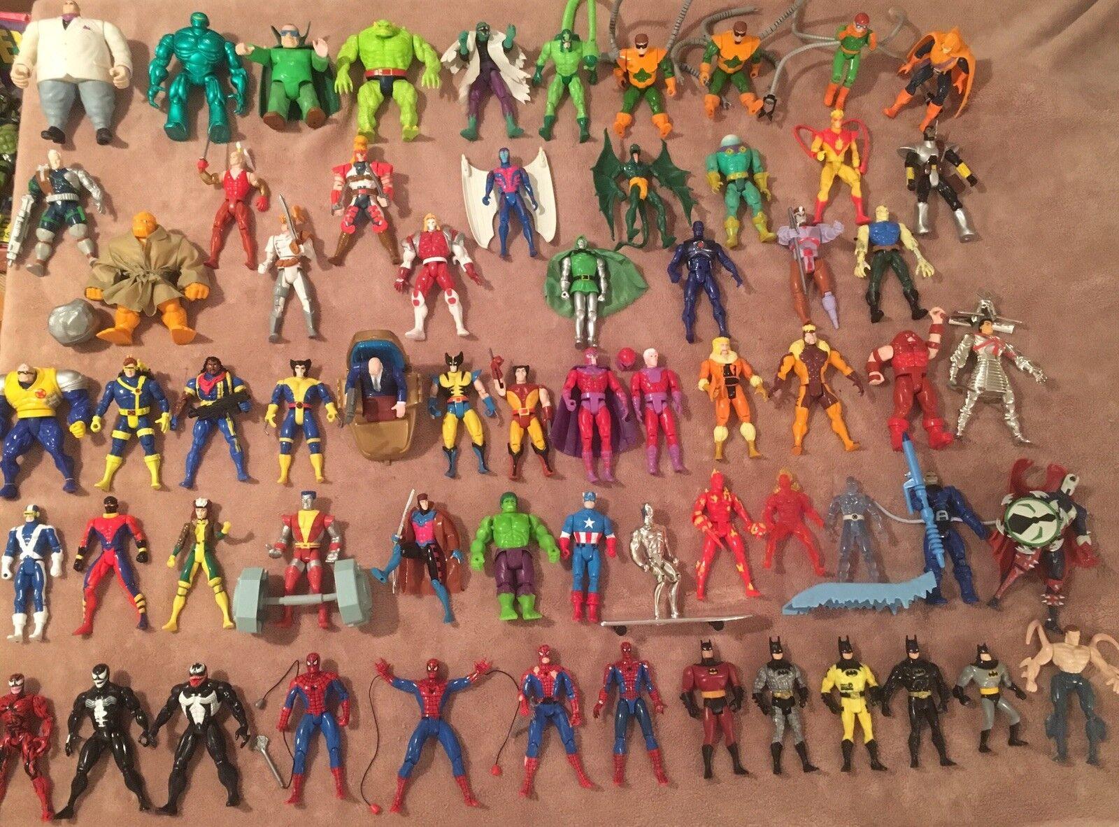 Todo en alta calidad y bajo precio. Figura De Acción Lote Lote Lote de (64) años 90 MarvelToy Biz X-Men con muchas figuras Accesorios  entrega rápida