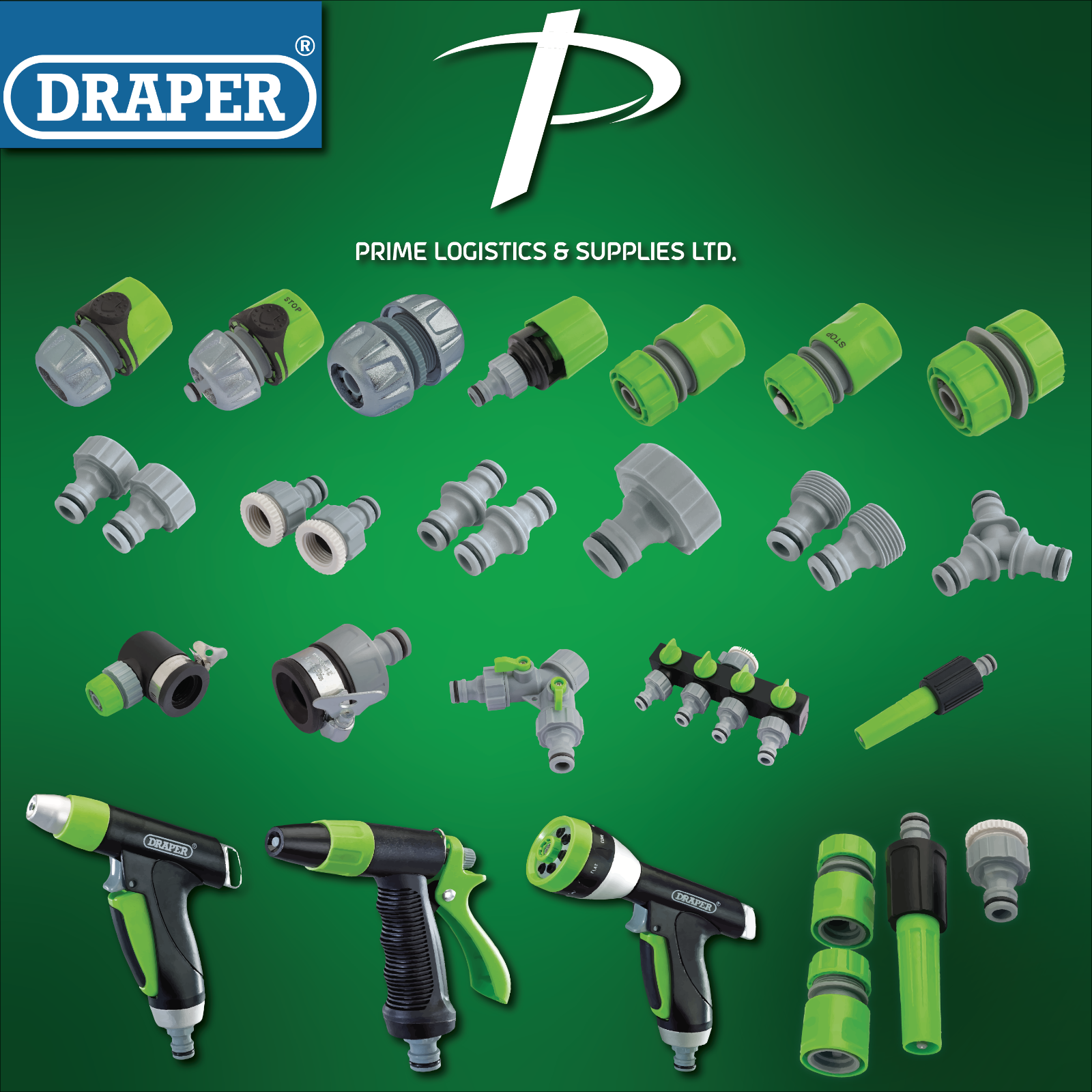 Draper Tools Hose Pipe Fitting Tap Connectors Fittings Hozelock - Compatible