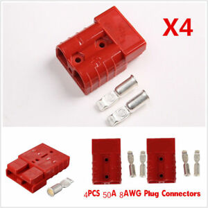 4Pcs-Battery-Quick-Connector-50A-8AWG-Plug-Connect-Disconnect-Winch-Trailer-Auto