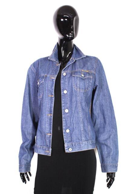 T3-4  s. Oliver Damen Jeans Jacke Denim Jacket Gr. 38 blau Used Look dünn weich