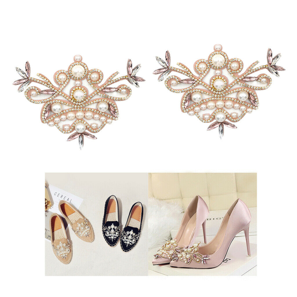 1 Pair Crystal Shoe Charms Clip Wedding Bridal Pointed Shoes Decoration