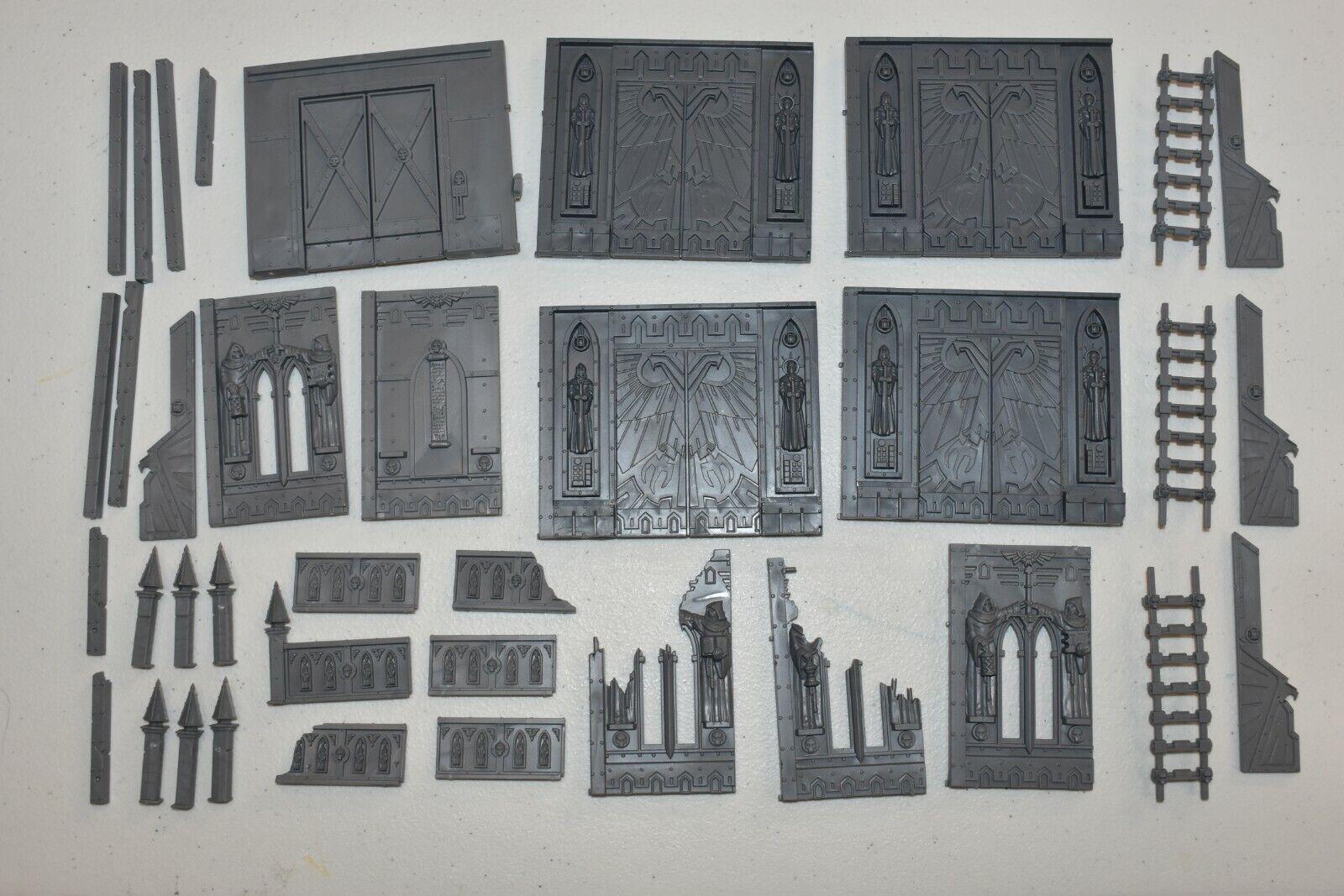 Imperial Sanctum Warhammer 40K Scenery Terrain Ruins Parts Doors oop AILZ