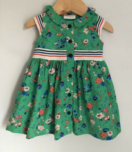 Next Baby Dress Pretty Green Floral Print Size 0-3 Months