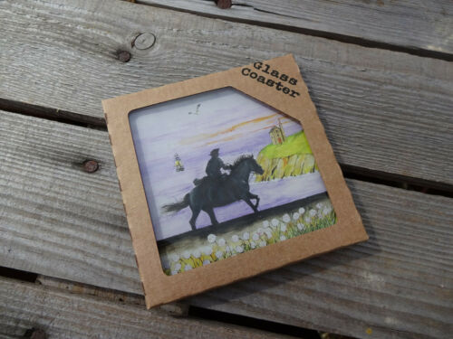 Poldark Glass Coaster by Sue Podbery Boxed Aidan Turner /& Eleanor Tomlinson