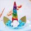 UNICORN-Theme-Cake-Topper-Handmade-Cute-Horn-Ears-Flower-Birthday-Party-Decor thumbnail 15