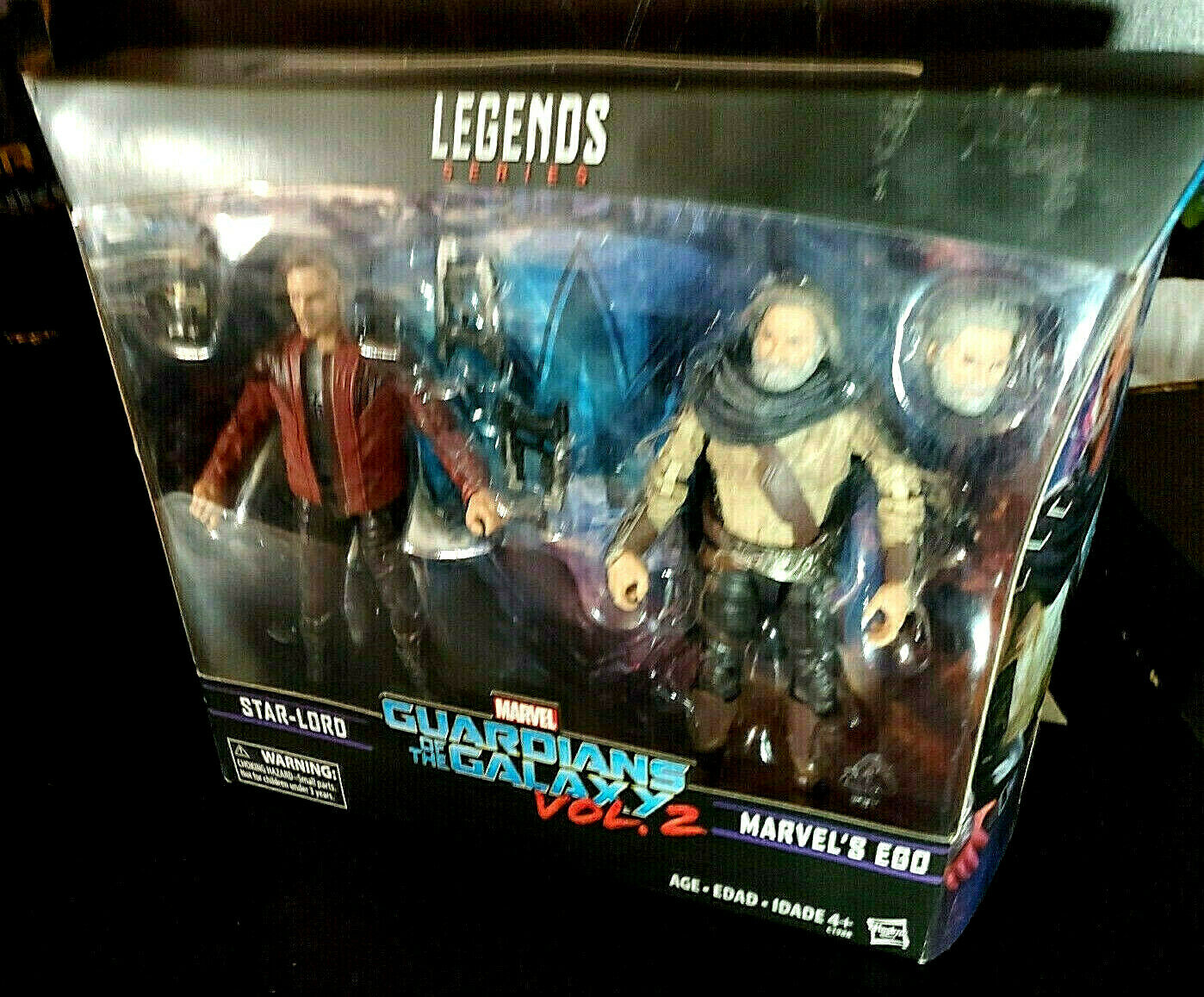 2 Star Lord and Ego Two Pack NIB Marvel Legends Guardians Of The Galaxy Vol
