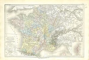 480-1789 Royaume de France 32 Gouvernements MAP CARTE ATLAS 1882 - France - État : Occasion: Objet ayant été utilisé. Consulter la description du vendeur pour avoir plus de détails sur les éventuelles imperfections. ... - France