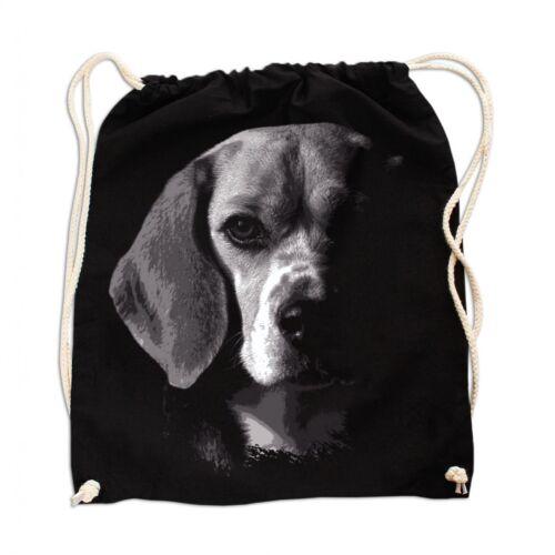 Rucksack GYM Bag Turnbeutel Leinentasche Beagle BOSS Hunde dogs welpen züchter