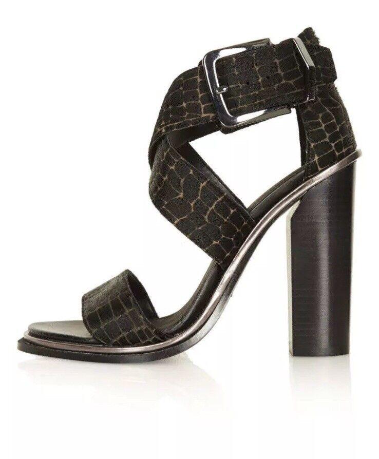 BNWB Topshop Premium Black Sandals Size 4