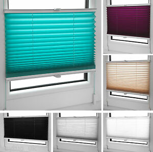 Pleated-Blinds-in-Many-Sizes-Colours-Easy-Fit-Install-Plisse-Conservatory-Blinds