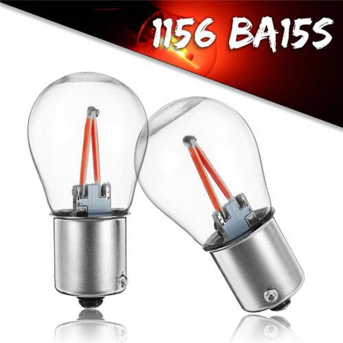 2x 1156 BA15S P21W COB Red LED Turn Signal Light Reverse Backup Lamp Bulb