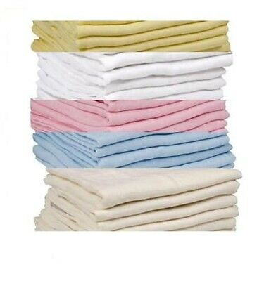 6 X Soft Supreme Quality Baby Muslin Squares 70x70cm 100%cotton, Re-usable.new Extremely Efficient In Preserving Heat