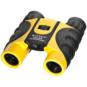 Barska-12x25-Yellow-Colorado-WP-Binoculars-w-Carry-Case-amp-Neck-Strap-CO11010