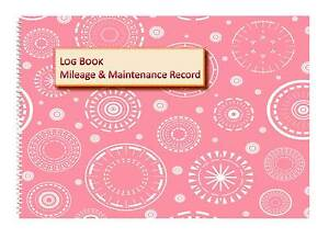 vehicle mileage record log book for ladies circles cover in 2