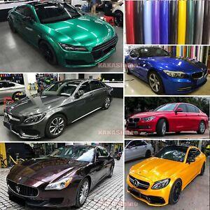 Glossy-Glitter-Pearl-Metal-Mirror-Chrome-Vinyl-Wrap-Car-Paint-Sticker-Film-AB