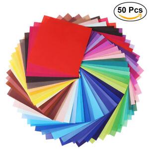 50 bl tter faltbl tter origami papier faltpapier origamipapier gemischte farbe ebay. Black Bedroom Furniture Sets. Home Design Ideas