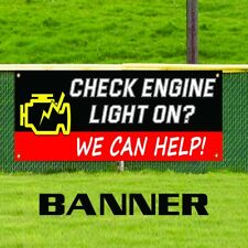 Check Engine Light On Vinyl Banner Sign Diagnostic Auto Sensor Repair Shop