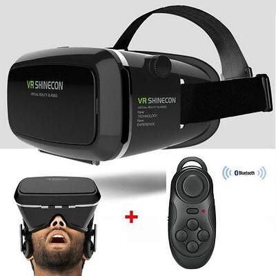 VR 3D Brille Virtual Reality Movie-Brille Headset VR Box mit Bluetooth Gamepad