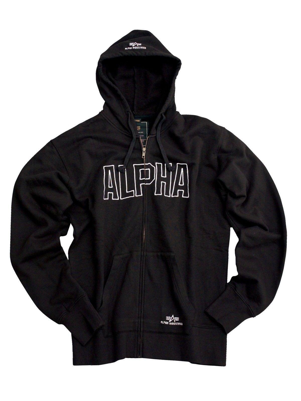 Alpha Industries Industries Industries Track Hd Jkt 183313 03 Zip Hood schwarz Größe 2XL 0dcdb5