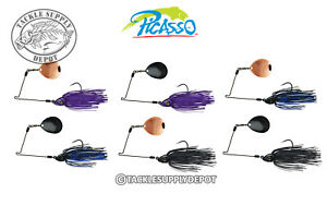 Picasso-Spinnerbait-INVIZ-Wire-Pro-Night-Thumper-Quick-Attach-Arm-3-8oz-Pick