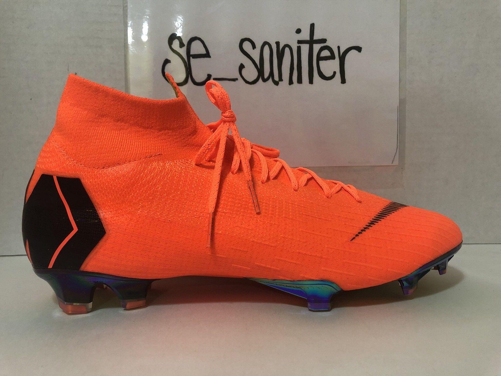 Men's Nike Superfly 6 Elite FG Total Orange Black Cleats AH7365 810 Size 12