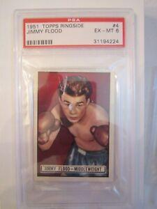1951-JIMMY-FLOOD-BOXING-CARD-4-TOPPS-RINGSIDE-PSA-GRADED-EX-MT-6