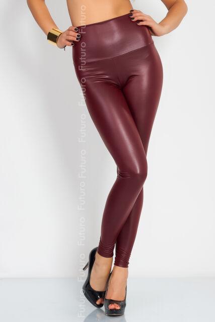 Sexy Shiny Wet Look & Mat HIGH WAIST Full Length Leggings Faux Imitation Leather