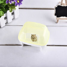 Pet Hamster Bathroom Bath Sand Room Sauna Toilet Cage Sand Baths Clear Plastic