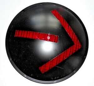 "12"" Inch RED Arrow Traffic Signal Light Lens PLASTIC NEW"
